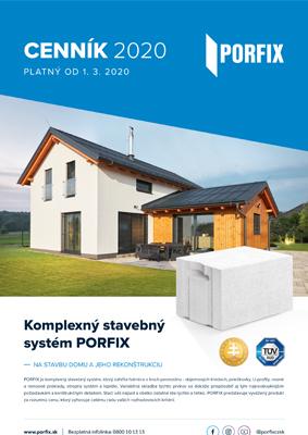 Porfix - cenník 2020 |
